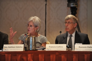 HHS Secretary Sebelius at a meeting of the Interagency Autism Coordinating Committee.
