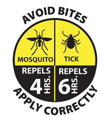 If they are using the new EPA label, your insect repellent will tell you how long it will protect your kids against mosquitoes and ticks.