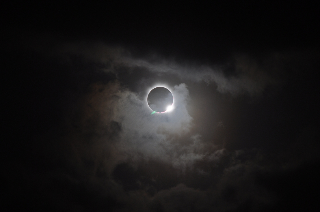 This diamond ring means that the eclipse is not at totality yet and you still need eye protection to look at the sun.