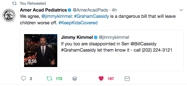 The American Academy of Pediatrics is opposed to plans to repeal the ACA and wants to KeepKidsCovered.