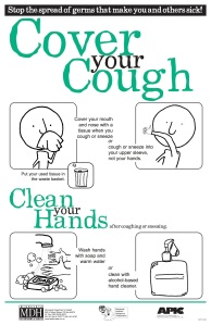 Teach your kids proper cough etiquette to help keep cold and flu germs from spreading.