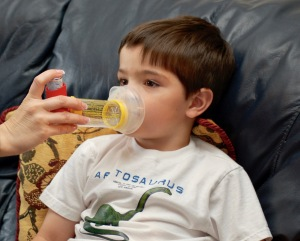 A spacer allows younger kids to use asthma inhalers.