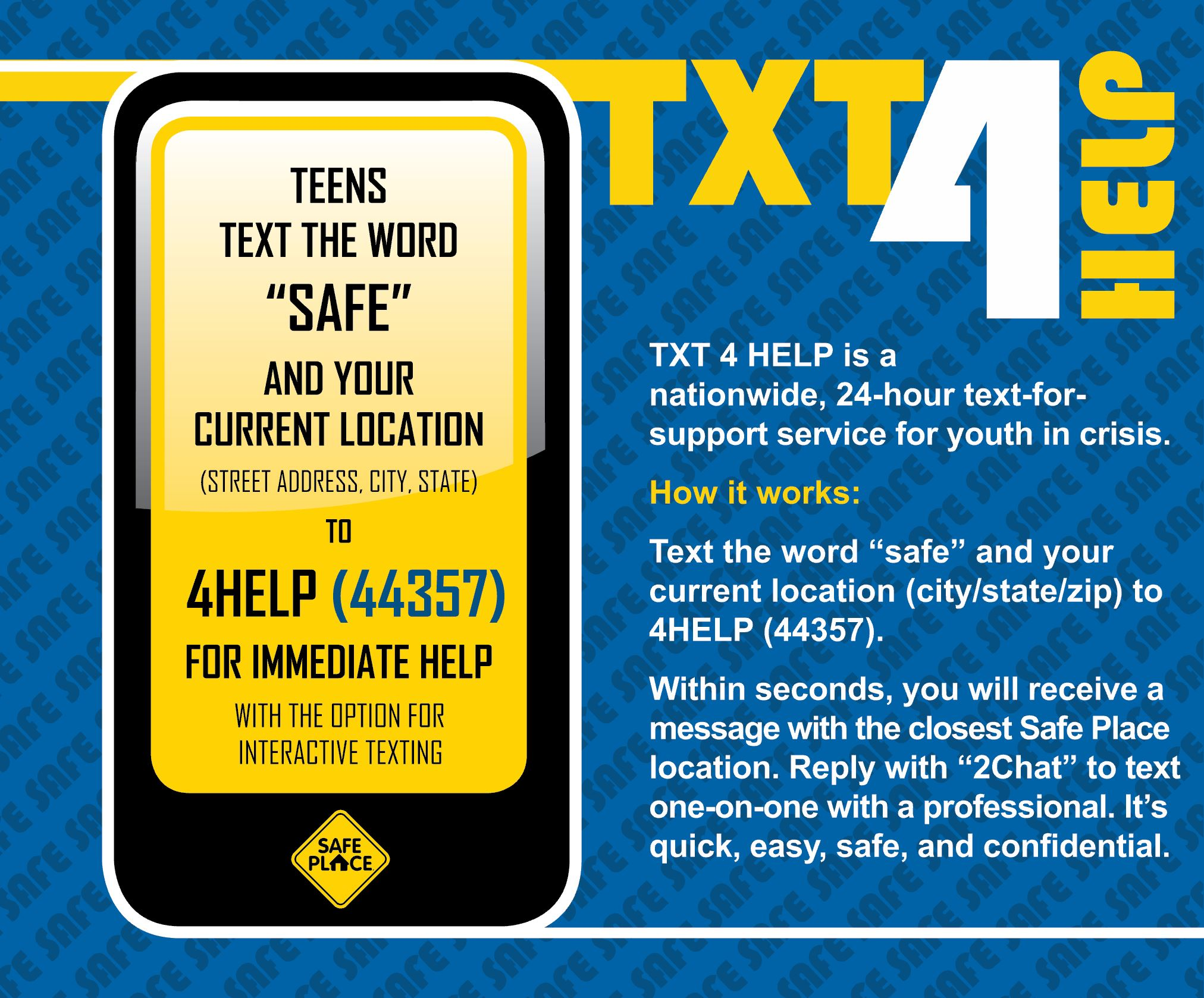 Does your teen know how to TXT 4 HELP?