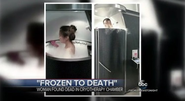 A routine cryotherapy session might not be deadly, but there still isn't any evidence that it is going to help you.