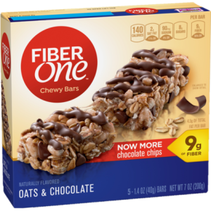 Some snack bars have up to 9g of fiber per serving!