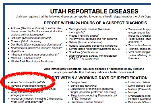 Utah has already added AFM to its list of notifiable conditions. Has your state?
