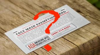 People are selling fake face mask exemption cards.